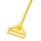 Yellow Plastic Head Quick Change Mop Handle