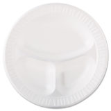 Dart® Quiet Classic® Laminated Divided Dinner Plates